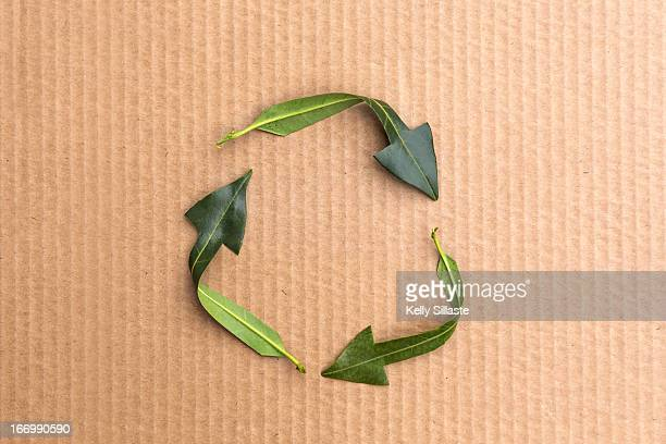 green infinity recycle symbol - リサイクルマーク ストックフォトと画像
