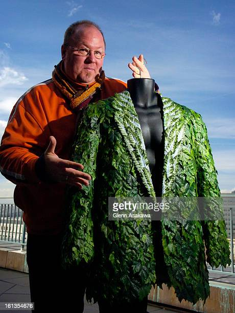 DENVER COLORADO MARCH 14 2007 A green jacket created by artist and Denver Public Library employee Chris Loffelmacher <cq> is used to illustrate how...