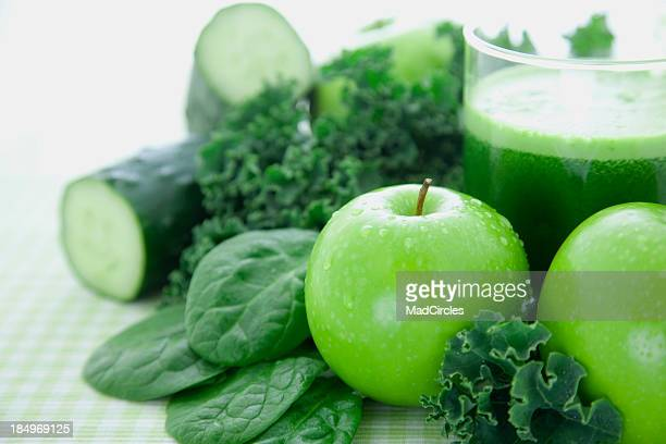 green juice - kale stock photos and pictures