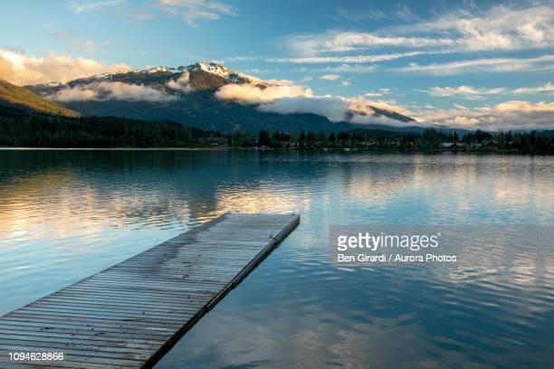 green lake, whistler, british columbia, canada - whistler british columbia stock pictures, royalty-free photos & images