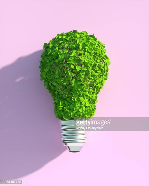 green lamp - umweltschutz stock-fotos und bilder