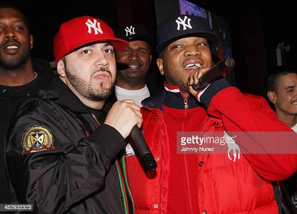 DJ Green Lantern DJ Suss One and Styles P attend DJ Prostyle's Birthday Bash at BB Kings on April 26 2010 in New York City
