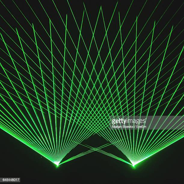 Green Laser Lights At Nightclub