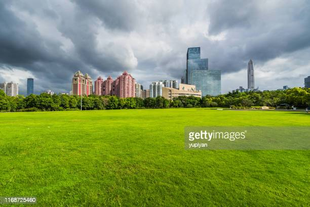 green lawn in city - good condition stock pictures, royalty-free photos & images