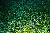 Green leather backgound, dragon leather, close up