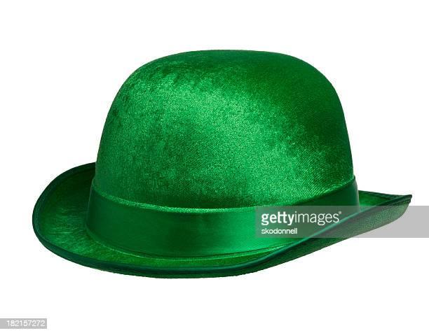 Green Leprechaun Hat Isolated on White