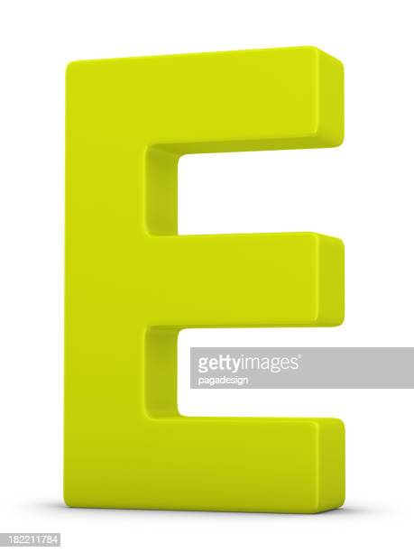green Buchstabe E