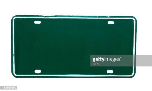 Green Nummernschild