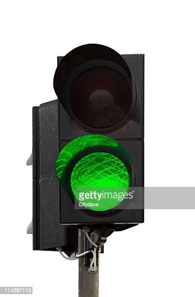 Grüne Ampel an der Ampel