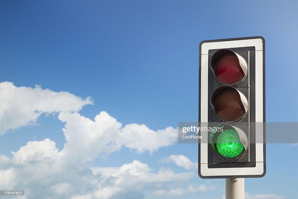 Grüne light : Stock-Foto