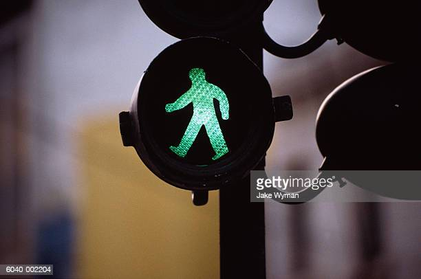 green man on traffic light - walk don't walk signal stock pictures, royalty-free photos & images