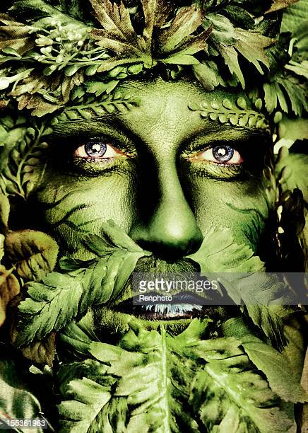 green man series - body paint stock pictures, royalty-free photos & images