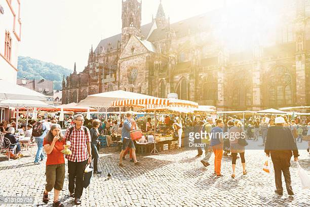 Green market in the city of Freiburg, Germany