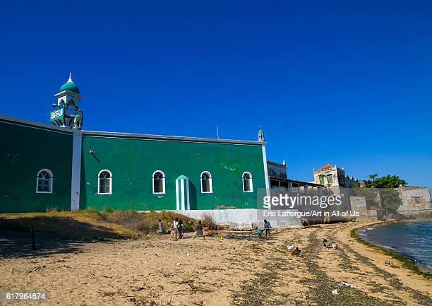 Green mosque, island of mozambique, Mozambique on July 16, 2013 in Island Of Mozambique, Mozambique.