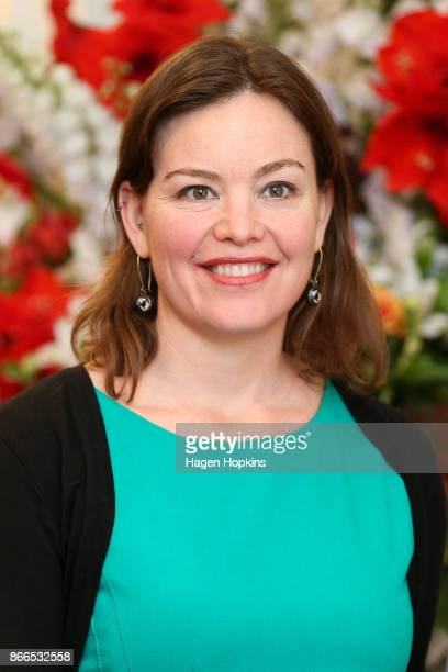 Green MP JulieAnne Genter looks on during a swearingin ceremony at Government House on October 26 2017 in Wellington New Zealand After failing to win...