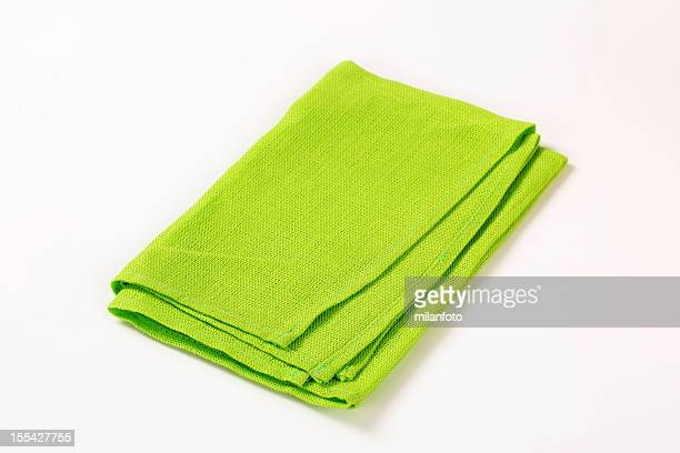 green napkin - dish towel stock pictures, royalty-free photos & images