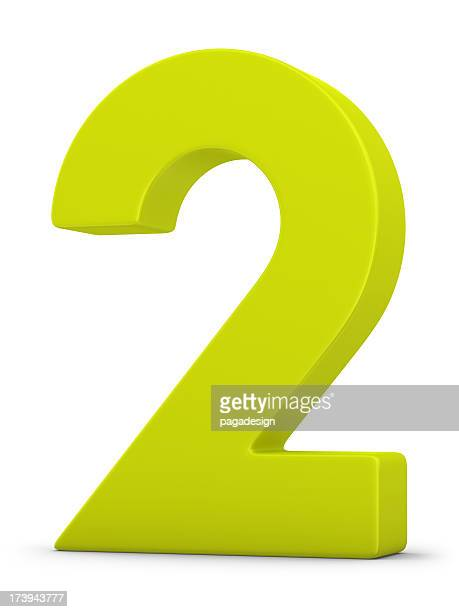 green number 2 - number 2 stock pictures, royalty-free photos & images