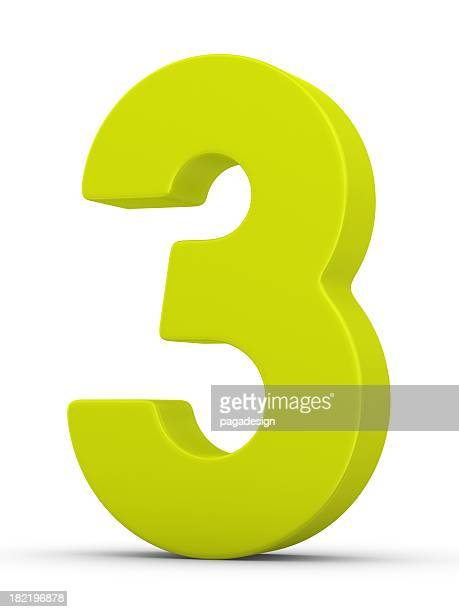 green number 3 - three stock pictures, royalty-free photos & images
