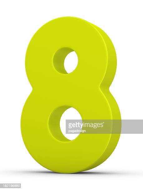 green number 8