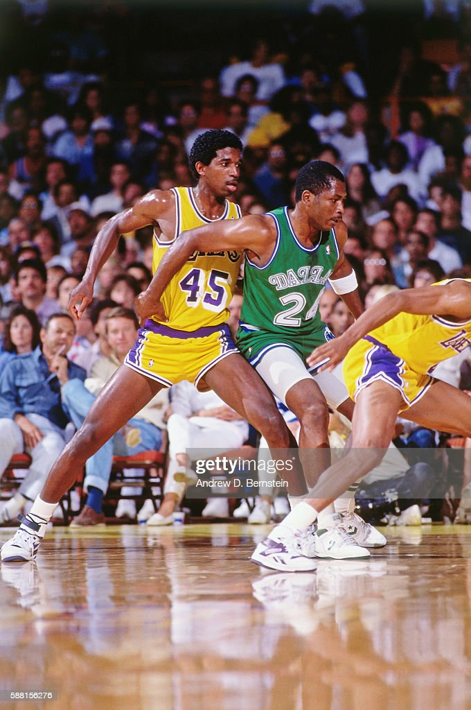 A C Green Of The Los Angeles Lakers Fights For Position