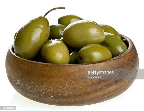 green olives - green olive stock photos and pictures