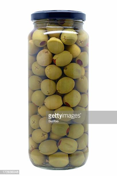 green olives - olive pimento stock photos and pictures