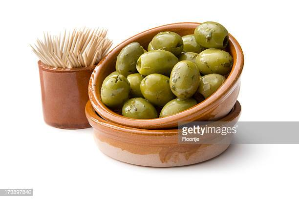 *green olives - tapas stock photos and pictures
