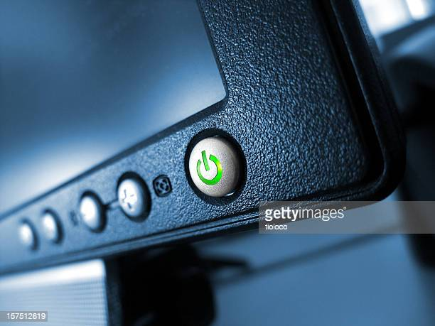 green on/off button