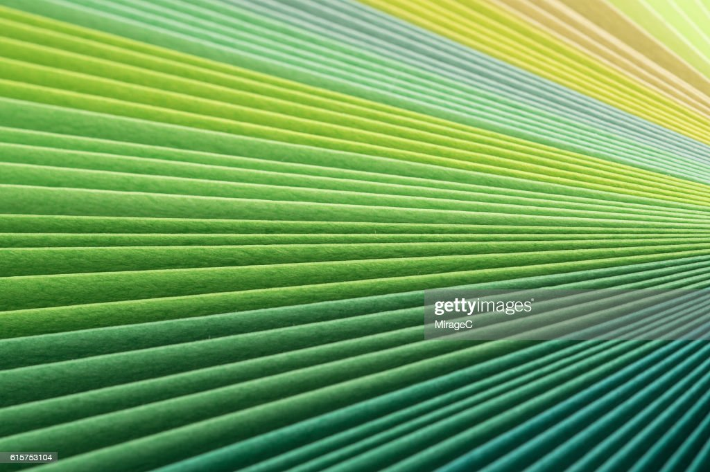 Green Paper Pages Stack Radial Gradient : Stock Photo