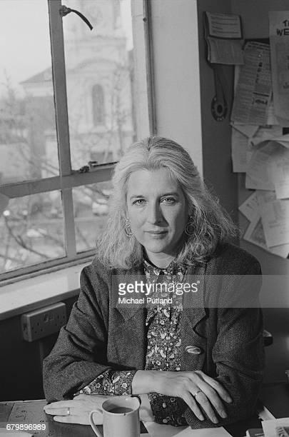 UK Green Party activist Sara Parkin February 1990