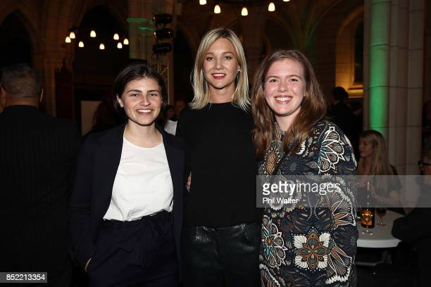 Green Party candidate Chle Swarbrick and Hayley Holt at the Green Party election night function at St Matthews in the City Church on September 23...