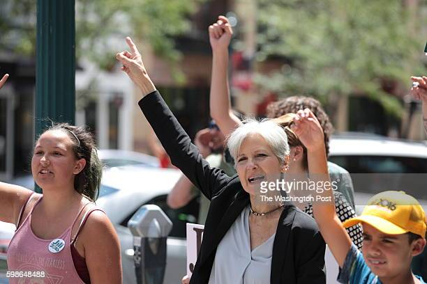 SPRINGS CO AUG Green Party Candidate for President Jill Stein on the street as she and a group of supporters march in Colorado Springs CO on Saturday...