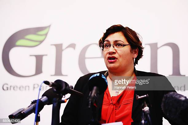 Green Party Coleader Metiria Turei announces their Homes Not Cars policy on May 19 2016 in Auckland New Zealand The Green Party plan would allow...
