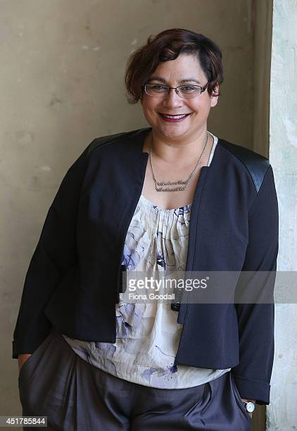 Green Party CoLeader Metiria Turei poses during a portrait session at The Generator on June 26 2014 in Auckland New Zealand