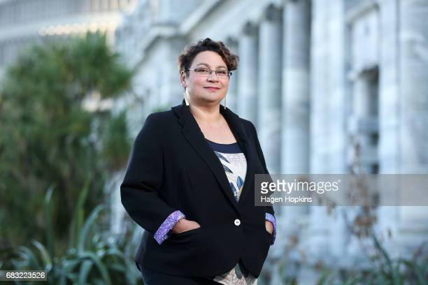 Green Party coleader Metiria Turei poses for a portrait at Parliament on May 15 2017 in Wellington New Zealand