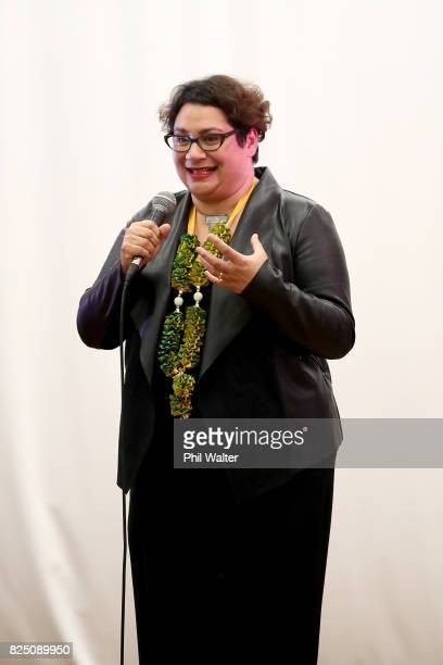 Green Party coleader Metiria Turei speaks during the Green Party Auckland Election Campaign Launch on August 1 2017 in Auckland New Zealand The 2017...