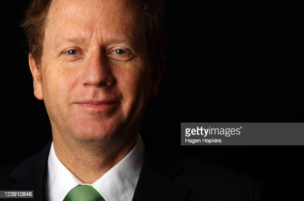 Green Party coleader Russel Norman poses during a portrait session at Bowen House on September 6 2011 in Wellington New Zealand New Zealanders will...