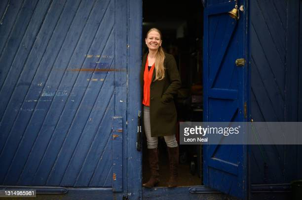 """Green Party leader Sian Berry poses for a portrait at the """"Save The World Club"""" charity headquarters during a mayoral election campaign visit on..."""