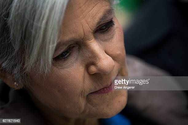 Green Party presidential candidate Jill Stein waits to speak at a news conference on Fifth Avenue across the street from Trump Tower December 5 2016...