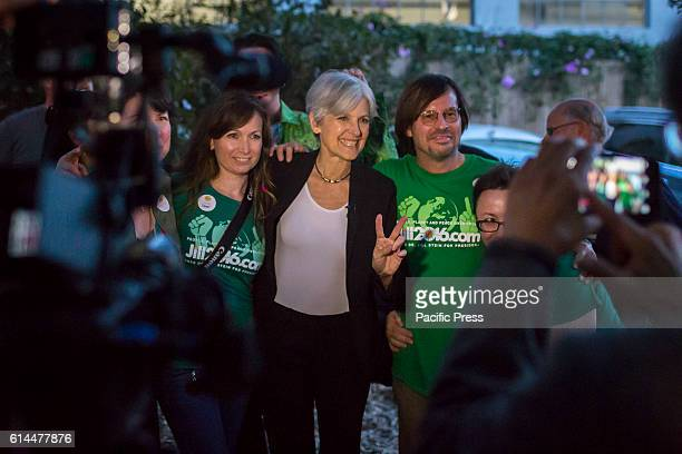 Green party presidential candidate Jill Stein with supporters