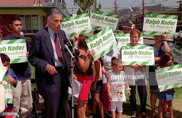 S Green Party Presidential Candidate Ralph Nader Attends A News Conference June 26 2000 With Members Of The Latino Community And The Group...