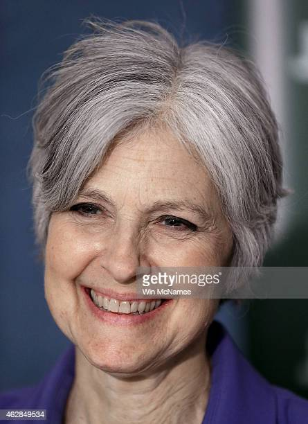 Green Party presidential nominee Jill Stein speaks at the National Press Club February 6 2015 in Washington DC Stein announced the formation of an...