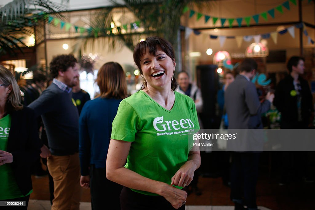 Green Party supporter Lucy Lawless during the Green Party election campaign event at St Kevins Arcade in Auckland on September 18, 2014 in Auckland, New Zealand. The New Zealand general election will be held Saturday, September 20.