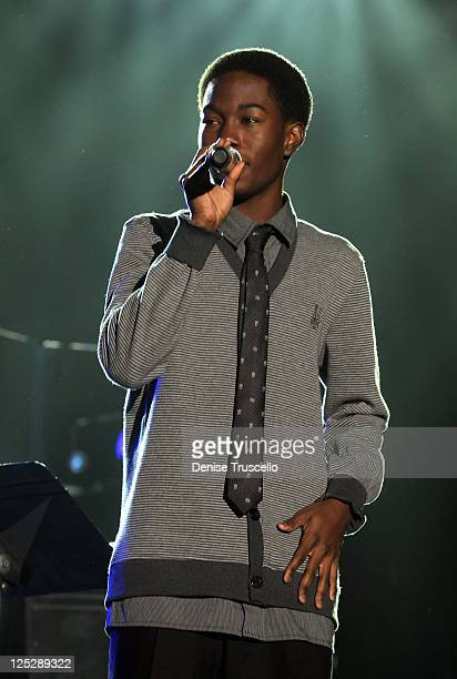 AJ Green performs onstage during the Andre Agassi Foundation for Education's 15th Grand Slam for Children benefit concert at the Wynn Las Vegas...
