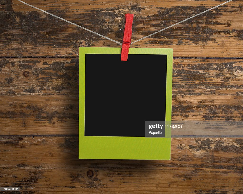 Verde, marco de fotos : Foto de stock