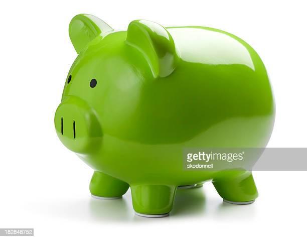 Grüne Sparschwein