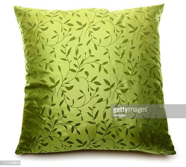 green pillow - cushion stock photos and pictures