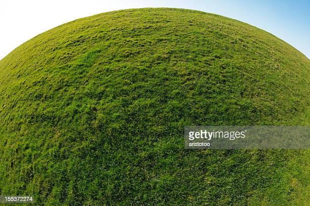 Green Planet Earth. Kugel Gras Hintergrund