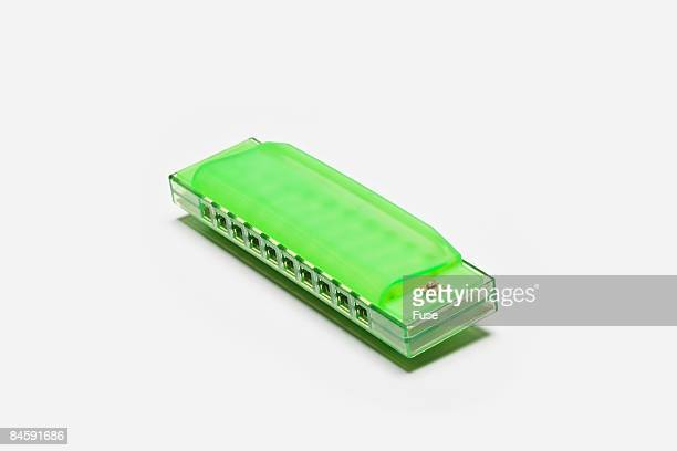 Green Plastic Harmonica