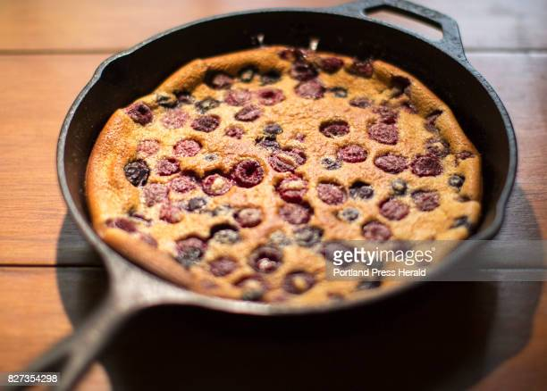 Green Plate Special A rye blueberry and raspberry clafoutis